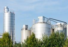2011化学制品可以傲德萨工厂乌克兰 免版税库存图片