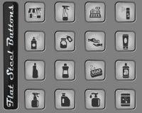 化学制品商店象集合 向量例证