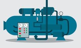 化学制品存贮的压缩机  也corel凹道例证向量 皇族释放例证
