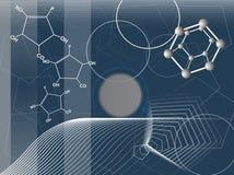 化学制品摘要 与分子的例证 向量例证