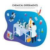 化学制品试验等量例证 向量例证