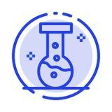 化学制品,实验室,实验室蓝色虚线线象 向量例证