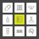 化学制品, madical,实验室,科学,烧杯, testtube,烧瓶, 库存例证
