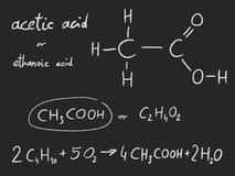 化学制品-乙酸 库存例证