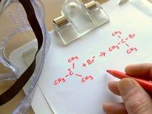 化学反应 免版税图库摄影
