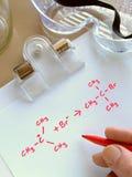 化学反应 库存图片