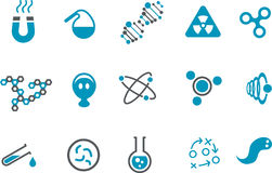 化学图标集 免版税图库摄影