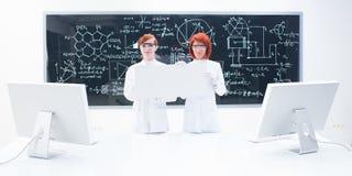 化学实验室全视图 免版税库存照片