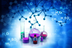 化学实验室或研究 图库摄影