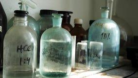 化学实验室用在老玻璃烧瓶的酸性溶液 为桌关闭用化工解答在实验室里 股票录像