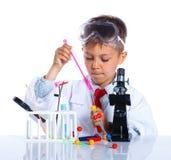 化学家一点 免版税库存图片