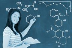 化学式的数字图象的综合图象 免版税库存照片