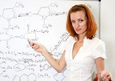 化学性感的教师 图库摄影