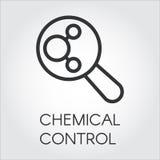 化学控制黑线性象在概述样式的 向量例证
