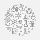 化学教育围绕线性例证的传染媒介概念 皇族释放例证