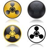 化学武器警告,道路危险标志 库存图片