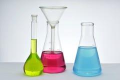 化学玻璃器皿 库存照片