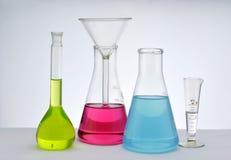 化学玻璃器皿 库存图片