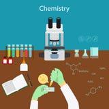 化学研究对实验室 皇族释放例证