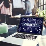 化学科学研究主题教育概念 库存照片