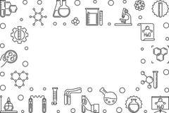 化学科学线性水平的框架-传染媒介例证 皇族释放例证