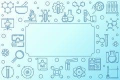 化学科学蓝色概述框架 r 皇族释放例证