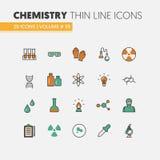 化学线性稀薄的线象设置与脱氧核糖核酸和化学元素 库存照片