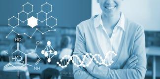 化学结构的例证的综合图象 免版税图库摄影