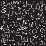 化学背景 库存例证