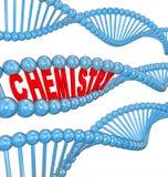 化学脱氧核糖核酸子线原子分子微粒化学制品研究 免版税库存照片
