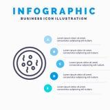 化学,盘,陪替氏,科学线象有5步介绍infographics背景 库存例证