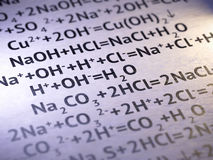 化学 免版税库存图片