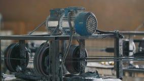 化工业-玻璃纤维综合增强的织品-一部分的机械线 影视素材