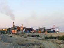 化工厂死海 图库摄影