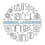 化工实验室传染媒介概念圆的概述例证 向量例证