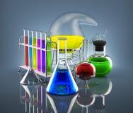 化工实验室 库存例证