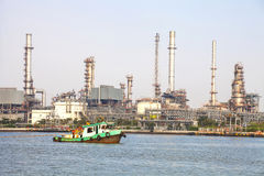 化工工厂油 免版税库存图片