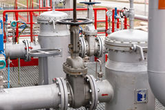 化工工厂油 库存照片