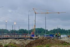 化工工厂的建筑 Tobolsk 俄国 库存图片