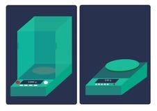 化工称量器在实验室 免版税库存照片