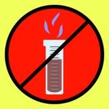 化工蒸发是危险的 与气体发行的实验室实验  液氮的蒸发 免版税库存图片