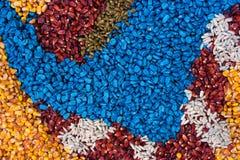化工被对待的玉米玉米庄稼种子五颜六色的纹理  免版税库存照片