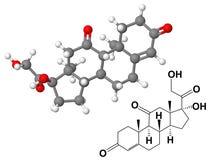 化工风湿甾酮配方分子 向量例证