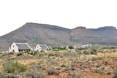 化石足迹在南部非洲的干旱台地高原国家公园 免版税图库摄影