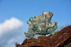 绿化矿物石头 免版税库存图片