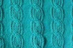 绿化被编织的羊毛纹理能使用作为背景 免版税库存图片