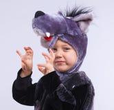 化装舞会服装的孩子 免版税库存图片