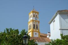 化身的教会,马尔韦利亚奥尔德敦,西班牙 免版税库存照片