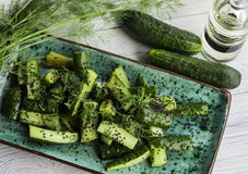 绿化黄瓜 免版税图库摄影
