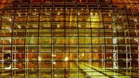 北京中国国家大剧院反射在湖水中在晚上晚上 股票录像